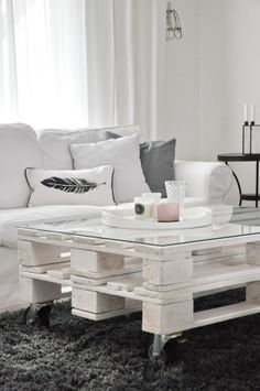 living room in white, grey and pink...