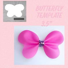 models of Tiaras, Barrettes, Hair Ties Step by Step ties - How to make Making Hair Bows, Diy Hair Bows, Diy Bow, Felt Bows, Ribbon Bows, Ribbons, Bow Template, Bow Pattern, Barrettes