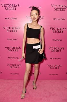 Model Xiao Wen Ju attends the 2017 Victoria's Secret Fashion Show In Shanghai After Party at Mercedes-Benz Arena on November 20, 2017 in Shanghai, China.