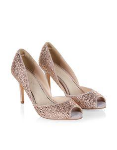 Jove diamanté stud-embellished peep-toe heels