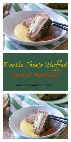 Double Cheese Stuffed Smoked Meatloaf Sandwich from Feed Your Soul Too Smoked-Meat | Stuffed | Meatloaf