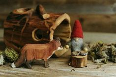 Waldorf toys -the Tomten and the fox