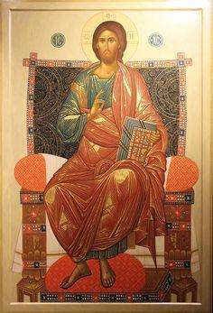 """Orthodox icon of our Savior Jesus Christ """"Enthroned"""" Images Of Christ, Religious Images, Religious Icons, Religious Art, Greek Mythology Art, Roman Mythology, Peter Paul Rubens, Best Icons, Byzantine Icons"""