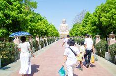 Giant Buddha with People India  by peogeo69 on @creativemarket