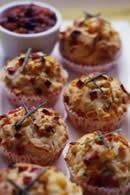 FitnFoodie.com - Recipe - Corn and Ham Muffins Recipe