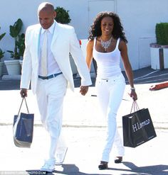 all white outfits | All white: Spice girl Mel B and husband Stephen Belafante donned ...