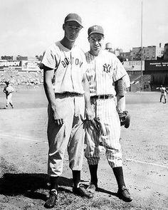 Ted Williams and Joe DiMaggio at Yankee Stadium.