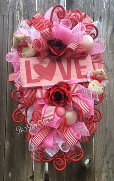 842 Best Valentine Wreaths Images In 2019 Valentine Day Crafts