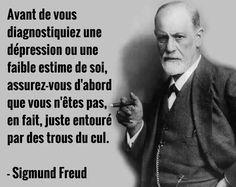 Sigmund Freud , et c'est LUI qui le dit ? Quotes Español, Yoga Quotes, Motivational Quotes, Funny Quotes, Inspirational Quotes, Peace Quotes, Sigmund Freud, Positive Mind, Positive Attitude