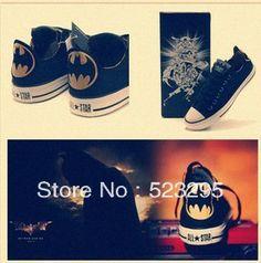 Free shipping 2013 New Fashion low-top Canvas Shoes Classic Shoe Men's/Women's fashion Casual shoes/ Batman version $34.50