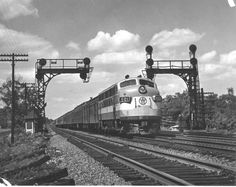 New York, Ontario & Western F3A No. 501 leads passenger train no. 4 eastward toward Weehawken, New Jersey, over the New York Central's West Shore line. October, 1948.