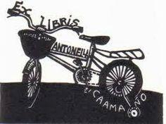 Ex libris en bicicleta.