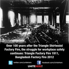 102 years ago today, this tragedy took the lives of 146 young immigrant garment workers and galvanized a reform movement to raise standards for workers.  #labor