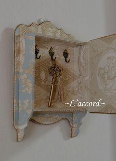 ジュエリーBOX&キーハンガー : L'accord~カルトナージュと過ごす優しい時間