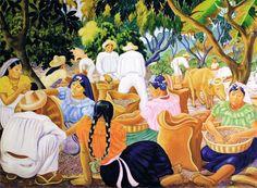 José Mejía Vides | 1903-1993| Salvadoran plantación de café| sin fecha| Óleo