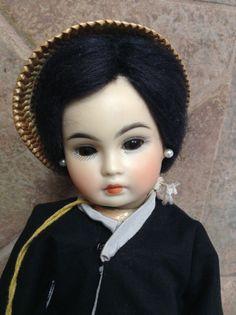 Bahr & Proschild Chinese bisque doll- rare