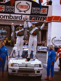 The Group B Supercars - Ari Vatanen, Terry Harryman and Peugeot 205 Lombard RAC Rally Chester, 205 Turbo 16, Rally Drivers, Rally Raid, Car And Driver, Peugeot 205, Courses, Le Mans, Space Shuttle