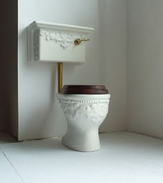 ornate Victorian toilet/commode