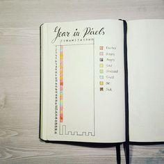 Year in Pixels. So far not too bad :-) . . #planneraddict #bujojunkies #bulletjournal #planner #plannernerd #bujo #plannergoodies #planner #plannersupplies #journaling #journal