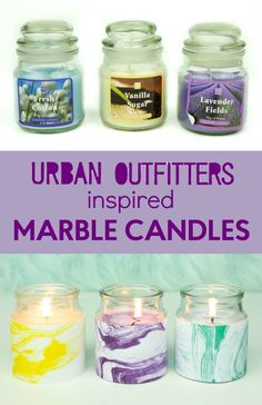 I then saw some marble candles at Urban Outfitters and I thought I would make my own Urban Outfitters DIY Marble candles. They are perfect for some cheap DIY teen room decor!