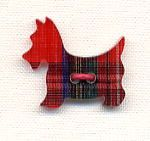 Plastic Button - Plaid Scottie--great for sweaters or vests - I need to remember this