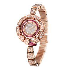 Bulgari Serpenti Incantati pink gold and rubellite watch (=)