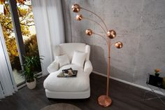 Lampa 5 Branchs Copper
