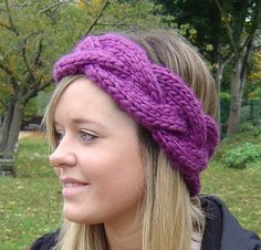 Earwarmer KNITTING PATTERN Quick Knit Plaited Cable Headband PDF Digital Delivery