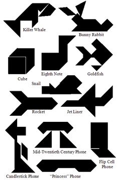 How to make a set of Tangram shapes and some different designs to create, a great puzzle to work your brain Brain Trainer, Tangram Puzzles, Class Art Projects, Teaching Geometry, Easy Quilt Patterns, Easy Quilts, Preschool Plans, Crafts For Kids, Shapes