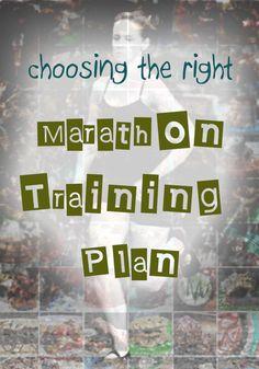 "Choosing the ""Right"" Marathon Training Plan"