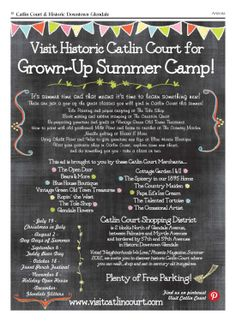 Grown Up Summer Camp in Catlin Court Historic Downtown Glendale