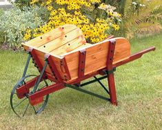Make your own vintage wheelbarrow with this plan at workshopsupply.com !