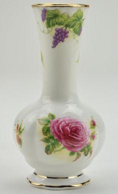 "Royal Albert Harvest Roses - Bone China Vase - 6"" Tall"