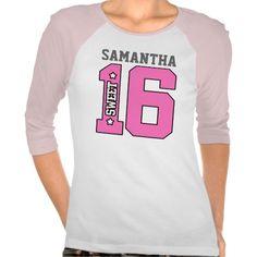 Personalized Sweet Sixteen Shirt #Personalized #tshirt