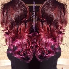 purple red ombre hair - Google Search