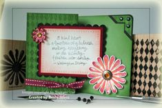 Z-Fold Card Tutorial. Fun and pretty card to make