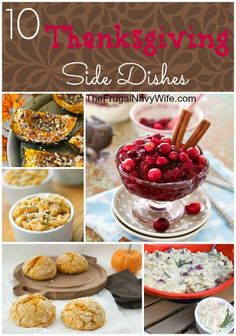 10 Thanksgiving Side Dishes Round-Up #thanksgiving #recipes
