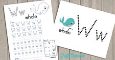 W vir Walvis Kleimat en Werkskaart - KraftiMama Grade R Worksheets, Alphabet Worksheets, Alphabet Activities, Preschool Worksheets, Teaching Activities, Preschool Learning, Preschool Ideas, Printable Alphabet Letters, Alphabet For Kids