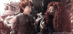 """""""Come here you,"""" Hiccup.>>>Thank you whoever made this!! The best gif of Mericcup!"""