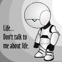 hitchhiker's guide to the galaxy marvin - Google Search