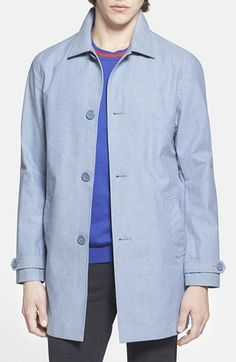 Topman Single Breasted Mac Coat (Brit Pop-In) available at #Nordstrom