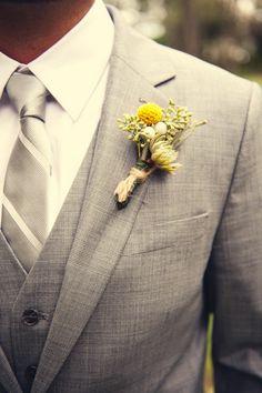 groomsmen attire for yellow and grey wedding