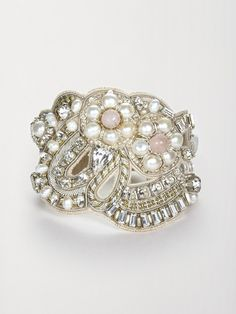 Ranjana Khan Rose Quartz Cuff