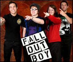 Fall Out Boy haha I have no idea what's going on here.
