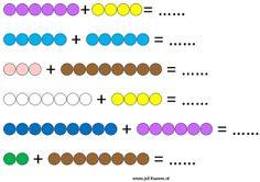 www.juf-lisanne.nl Gemengde sommen met de Montessori kralenstaafjes 1 gekleurd / Mixed Montessori math game 1 colored