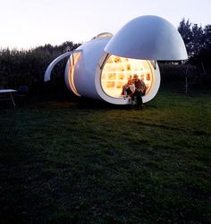 Portable Blob House by DMVA... How they designed the shower is art