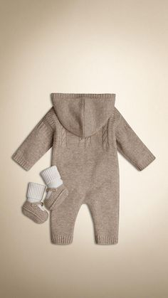 Oatmeal melange Cashmere Two-Piece Gift Set - Image 2