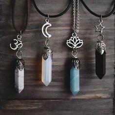 Pequeño corazón en forma de Opalita Colgante de piedras preciosas y joyas Cadena Cordón Unisex