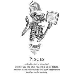 illustration and inanity by amrit brar — - The Shitty Horoscopes... ❤ liked on Polyvore featuring words and zodiac