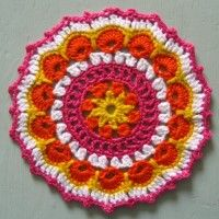 Crochet Mandala Wheel made by Amie, Cambridge, UK for yarndale.co.uk
